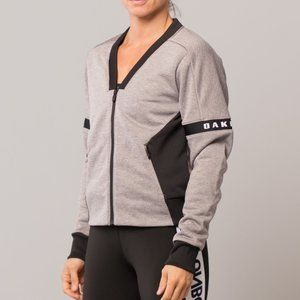 OAKLEY Athletic Heather Grey Bomber Jacket